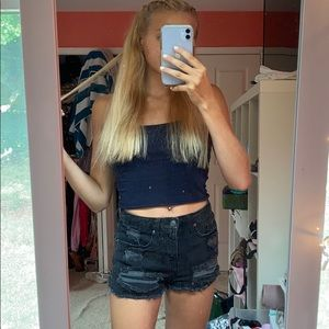 black bootie shorts